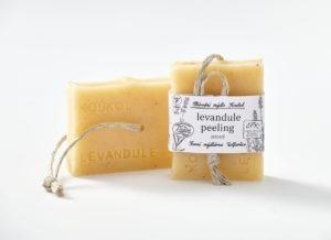 Přírodní mýdlo Koukol – Peeling jemný – LEVANDULE