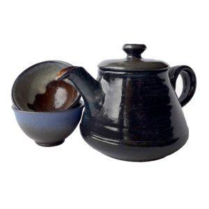 Keramická konvice na čaj tmavě modrá – Velká čajová konvice 600 ml
