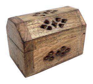 Dřevěná truhlička malá na vonné kužílky