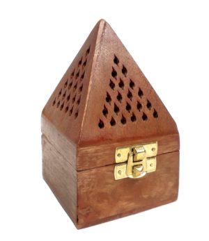Dřevěná pyramida na vonné kužílky a vykuřovadla