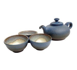 Keramická čajová souprava modrá – 300 ml