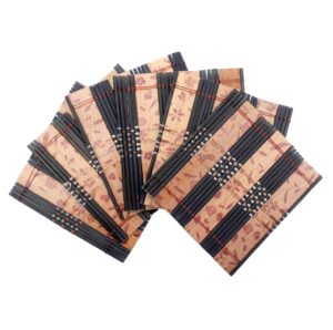 Bambusové vázané podšálky – Čtvercový zdobený podšálek sada