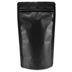 Černý matný sáček uzavíratelný ZIP doypack – 1000ml