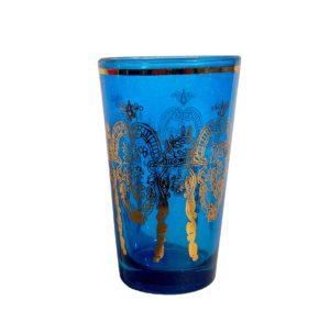 Arabská sklenička modro-zlatá