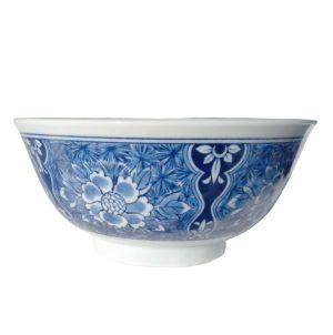 Velká porcelánová miska s květinami