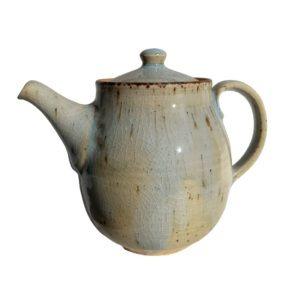 Velká rodinná konvice na čaj – Bledě modrá keramická konvička – 1l
