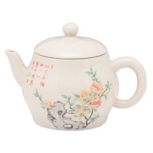 Drobná konvička s květy osmanthu – porcelánová konvička na čaj 140 ml
