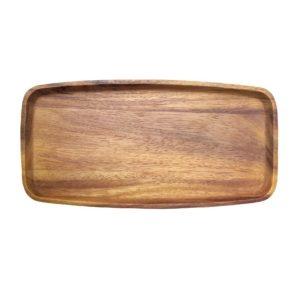 Dřevěný tácek – Čajový podnos tmavě hnědý