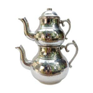 Turecká konvice na čaj – Dvoudílný nerezový čajník