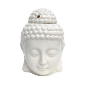 Bílá Aroma lampa Buddha – lampička na esenciální oleje