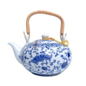 Modrobílá konvička – Květinová porcelánová konvička 500ml