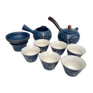 Japonská sada na čaj – Kyushu zdobená pozlaceným bambusem